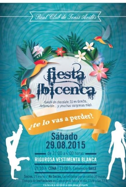 Real club de tenis avil s - Fiesta ibicenca ...